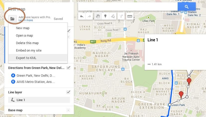kml da google maps
